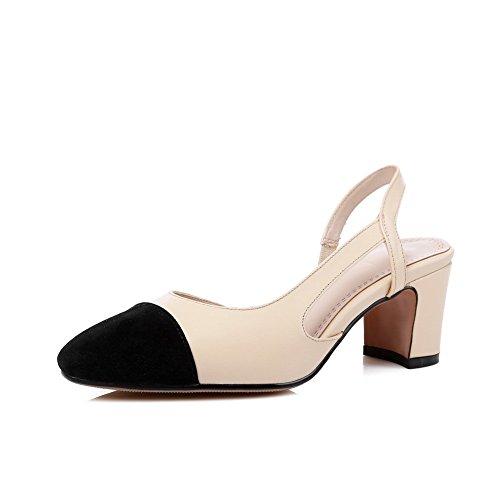 Adee filetage pour femme élastique Chaussures Pompes en cuir Beige - beige