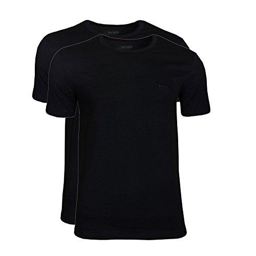 BOSS Herren RN 2P CO T-Shirts, Schwarz (Black 001), X-Large (2erPack)