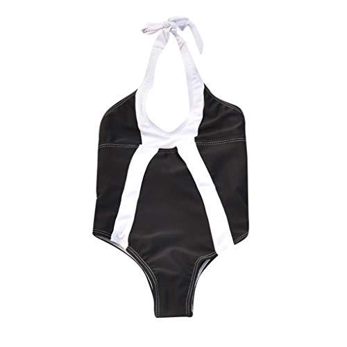 Storerine Mutter und Tochter Sexy Einteiler Push Up Bademode Strand Badeanzug Monokini Schwarz weißer einteiliger Badeanzug mit ()