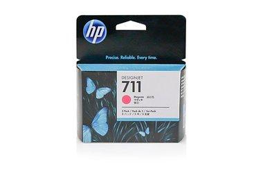 HP - Hewlett Packard DesignJet T 120 (711 / CZ 135 A) - original - 3 x Tintenpatrone magenta - 29ml (Hp Designjet 120)