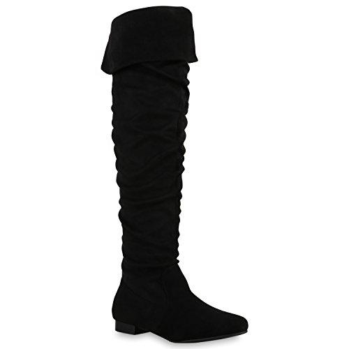 Overknees Stivali Stivali Ladies Flandell Nero Paradise Bernice T0EEqxgFtw