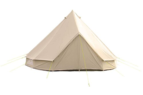 5m Bell Tent w Zipped in Groundsheet by Life Under Canvas. 100% Cotton Canvas. Large Family Tent. Bell Tent for camping. Bell Tent for the garden. Excellent Value.