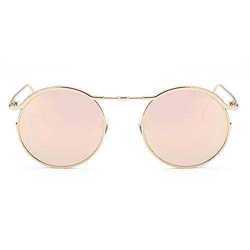Yezijin_Sunglasses YEZIJIN Unisex Sonnenbrille, rund, Acetat-Rahmen, UV-Brille Free Size B