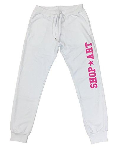 SHOP ART Damen Jeanshose weiß Bianco Bianco