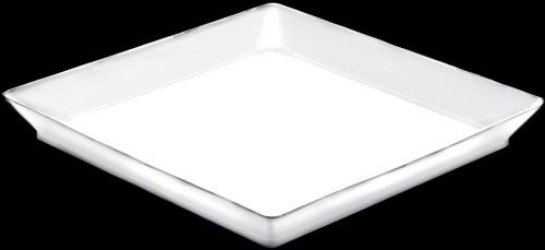 nv-corporacion – Plateau Medium plate en paquet en plastique Pack de 12 – Taille : 130 mmx130 mm – Couleur : Blanc