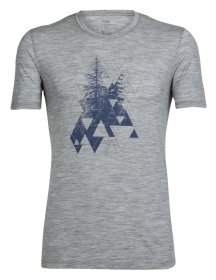 Icebreaker Herren Tech Lite Short Sleeve Crewe Evergreen Geo T-Shirt