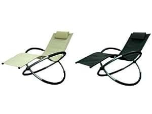 transat a bascule design noir 120 kg rocking chair. Black Bedroom Furniture Sets. Home Design Ideas