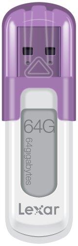 Lexar JumpDrive V10 USB 2.0 64GB Pen Drive (White & Purple)