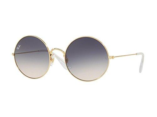 design di qualità 1a124 121f8 Ray-Ban ja metallo jo rotondi occhiali da sole in sfumatura marrone oro blu  RB3592 001/I9 50
