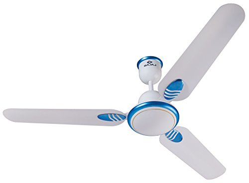 Bajaj Grace Gold DX 1200mm Ceiling Fan (White Blue)