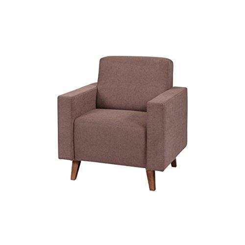 Sessel Oviedo, Relaxsessel Armchair Polstersessel im skandinavischen Stil, Relax Sitzmöbel, Wohnzimmer (Moric 03, Füße: San Remo Eiche Dunkel)