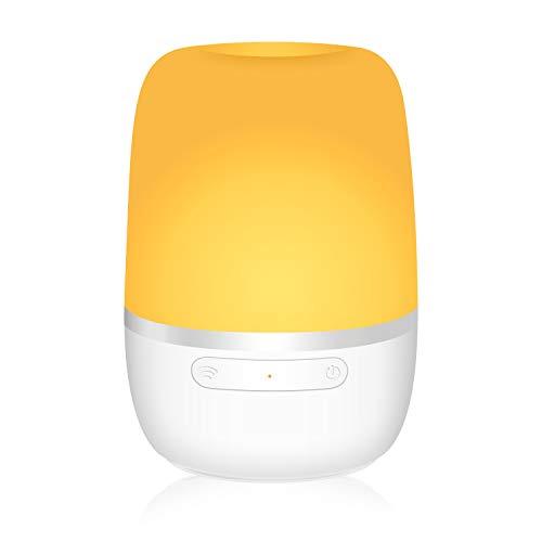 Meross Smart Mehrfarbige Nachttischlampe Intelligente WLAN Dimmbare Tischleuchte, Fernbedienung, kompatibel mit Alexa, Google Home und IFTTT, mit USB-Kabel ohne Adapter