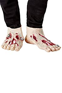 Smiffys 52038 Zombie - Cubiertas de látex para zapatos de hombre, talla única, color beige