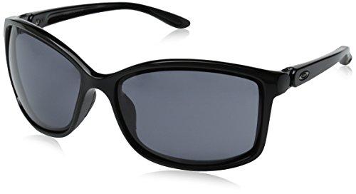Oakley Damen Step Up 929202 61 Sonnenbrille, Schwarz (Polished Black/Grey)