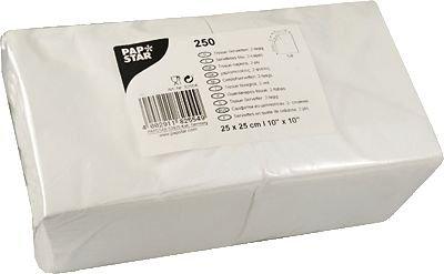 Zelltuchservietten 24x24 cm 250 Stück/Packung braun LxB 24x24cm