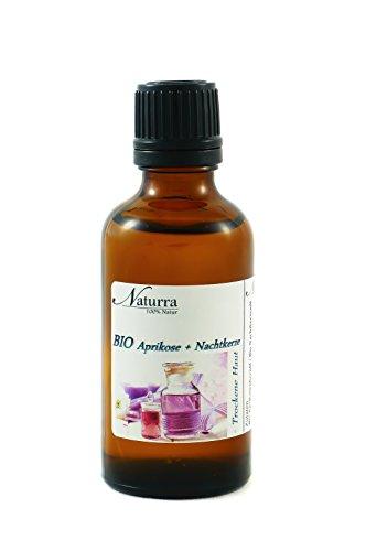 Naturra BIO Gesichtsöl 'Trockene Haut' 50ml Glas - BIO Aprikosenkernöl + BIO Nachtkerzenöl
