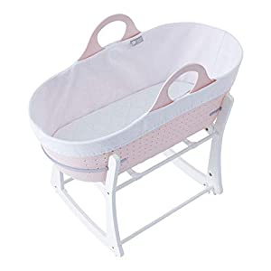 Tommee Tippee Sleepee Baby Moses Basket and Rocking Stand Pink   2
