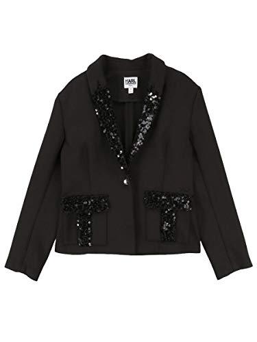 Karl Lagerfeld - Veste de Costume à Sequins Noir ado Fille Karl Lagerfeld