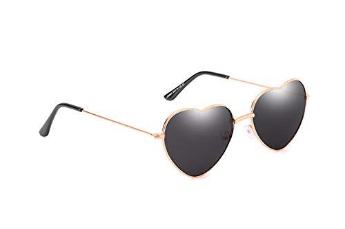 iCerber Hippy Brille Herz Geformt Sonnenbrille for Hippie Verrücktes Kleid Zubehörteil, Rose Gold Rahmen Personalisierte bunte Brille (Einheitsgröße, B)