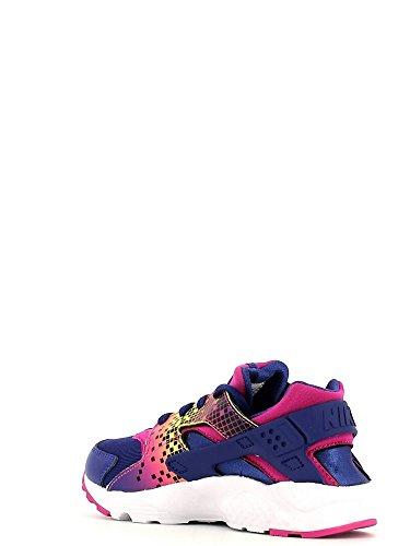 Nike - Huarache Run Print (Ps), Scarpe sportive Bambina Nero / Rosa (Nght DP / DP Nght-Fr Pnk-Brght C)