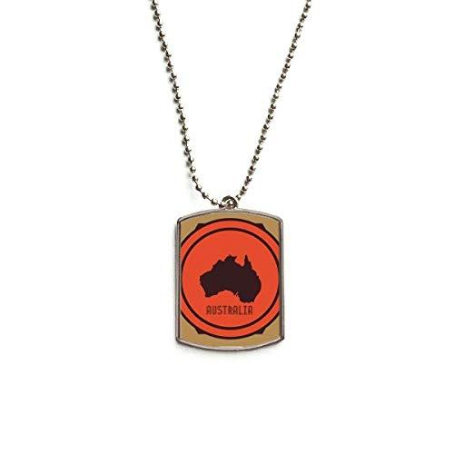 Anhänger Australien Karte Rot und Schwarz ()