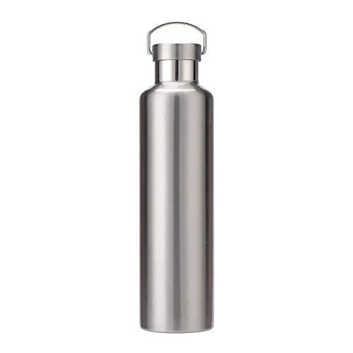 SKKG Herren und Damen Sommer tragbare Edelstahl-Sportflasche mit großer Kapazität Outdoor Vakuumbecher Doppel-Wasserbecher Retro Geschenk Tasse Umweltschutz (Porzellan-puppe Kleider Für Erwachsene)