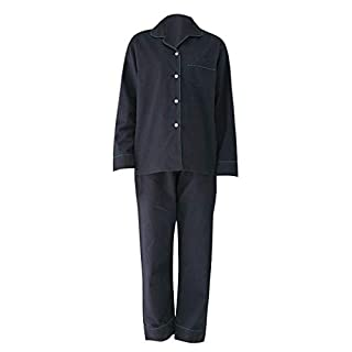 Amybria Men High Quality Silk Pajamas Set Blue Size L/UK Size 12