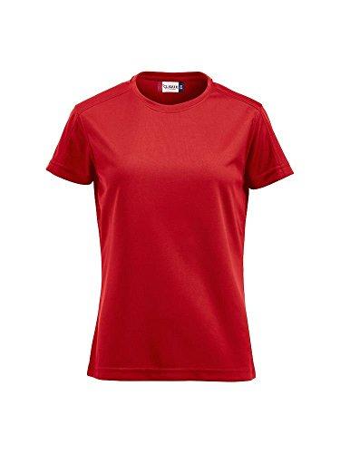 Damen Funktions T-Shirt aus Polyester von CLIQUE. Das T-Shirt für den Sport, perforiert und feuchtigkeitsabführend in 7 Farben und 5 Grössen Rot