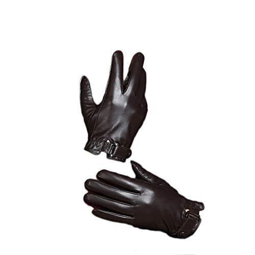Warme Handschuhe Echtes Lamm Leder Handschuhe Fäustlinge, Männlich Weiblich Herbst Winter Im Freien Radfahren Wandern Fahren Sport Touchscreen Plus Samt Warme Handschuhe (Unisex) (größe : M)