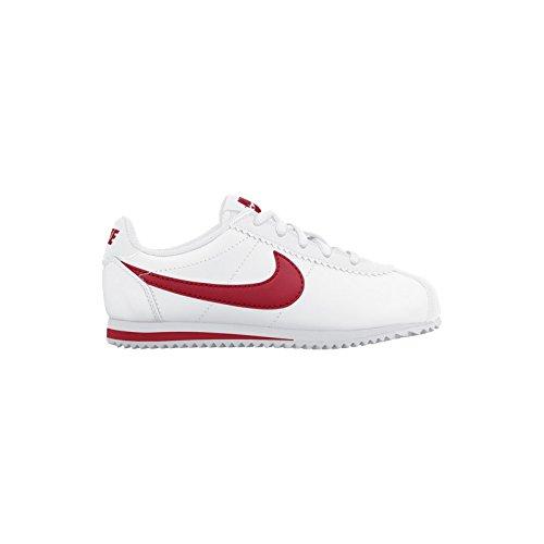 Nike Cortez (Ps), Chaussures de Football Mixte Bébé Multicolore - Blanco / Rojo (White / University Red)