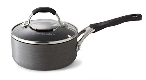 Calphalon Hard Anodized Aluminum Nonstick Cookware Sauce Pan, 1 qt., Black by (1 Quart Pan)