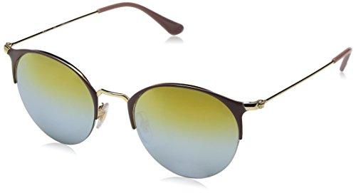 Ray-Ban Rayban Unisex-Erwachsene Sonnenbrille 3578, Gold Top Turtle Dove/Greenmirrorsilvergradientg, 50