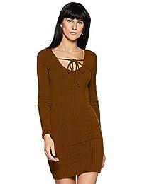 Forever 21 Women's Body Con Dress (236469, Golden Haze, Small)