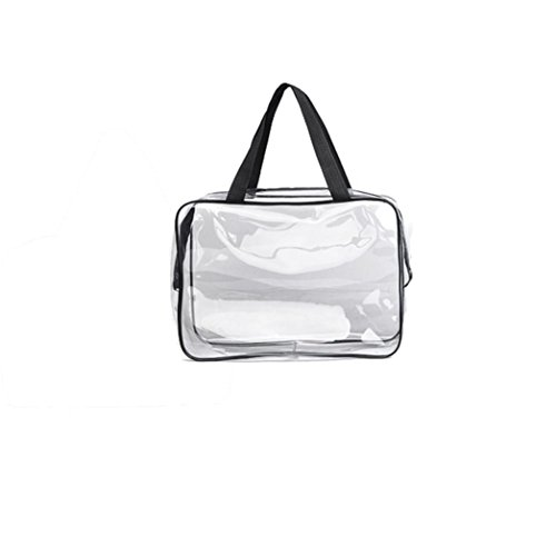 Transparent Maquillage Trousse Femme Chouette Cosmétique Sac Avion Make Up Handbag (Large 30*10*22CM)