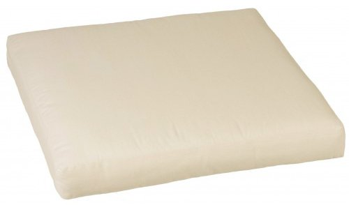 Premium Lounge Sitzkissen 60 cm x 60 cm in der Farbe cremeweiß mit Reißverschlüssen für Rattan...