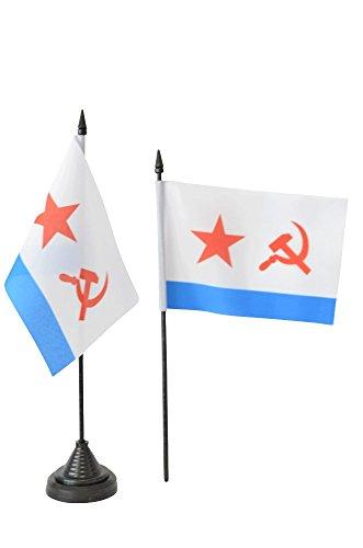 Tischflagge / Tischfahne UDSSR Sowjetunion Marine + gratis Aufkleber, Flaggenfritze®