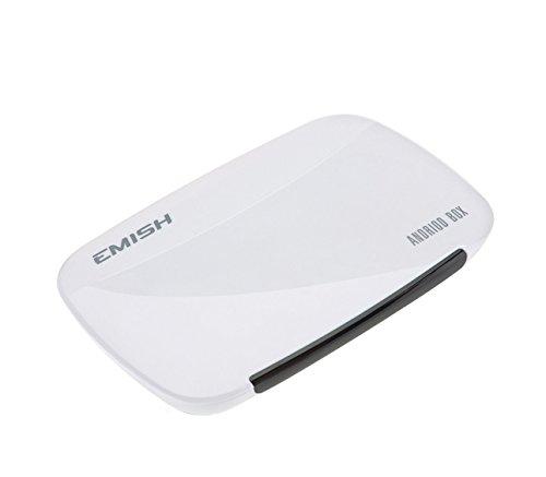 Emish TV Box Android 4.4.4 Quad Core Smart Pro Media Player 1080P WIFI HDMI XBMC, YOUTUBE - Bianco