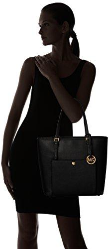 Michael Kors  Jet Set Large Top Zip Snap Pocket, Sac femme Black (30S6GTTT3L001 Black)