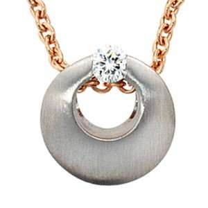 Jewelry Women's Pendant 950 platinum frosted with diamond diamond diameter about 10.3 mm
