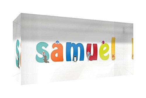 Little Helper Erinnerung Deko Acryl Transparent poliert wie Diamant Stil illustrativen bunt mit dem Namen de jeune Jungen SAMUEL 5x 15x 2cm klein
