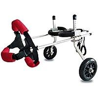 Automóvil deshabilitado para mascotas, Aleación de aluminio, Coche para silla de ruedas, Coche para discapacitados Hiena, Rehabilitación de extremidades, Coche auxiliar para ejercicio, tamaño múltiple