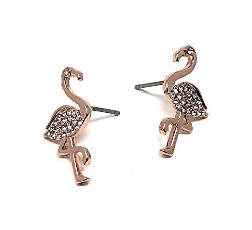 Kate Spade New York Stud Earrings by The Pool O0RU2785 Rose Gold Flamingo