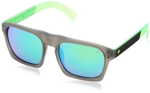 Spy Herren Balboa Limelight Rechteckig Sonnenbrille, grey w/ green spectra