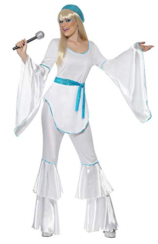 Women's ABBA Style Costume. Top, Trousers, Hat and Belt. Sizes 8 to 18.