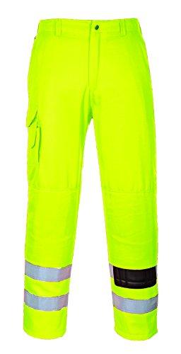 Portwest E046 Pantalone Combat ad Alta Visibilità, Giallo, XL