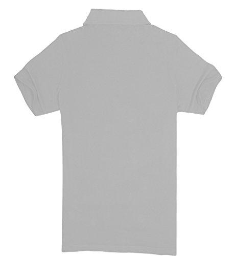 TELLSTYLE Herren Kurzarm Basic Poloshirt Weiß