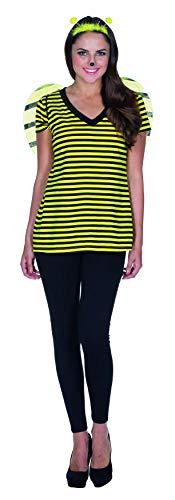 Und Schwarz Gelb Kostüm - Rubie's V-Shirt Biene schwarz gelb gestreift Damen Karneval Dortmund Hummel Insekt Kostüm