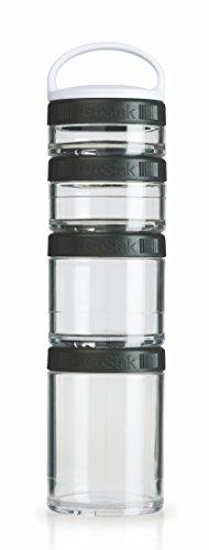 BlenderBottle GoStak Starter 4Pak - Contenedor de la nutrición de acampada y...