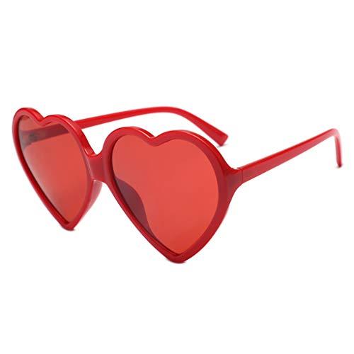 Lomsarsh Herzförmige Sonnenbrille Brille süße Sterne Linse Strand Sonnenbrille - trendige Frauen Mädchen Brille Sterne verspiegelte Linse Sonnenbrille gehen obligatorisch - mehrfarbig
