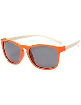 BOZEVON Moda Wayfarer Gafas de Sol para Unisexo Niños Niñas Flexible Rubber Retro Polarizadas Gafas